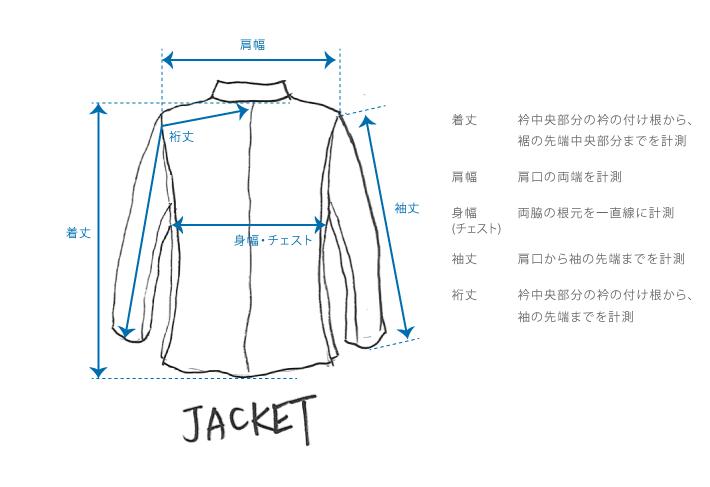ジャケットのサイズガイド
