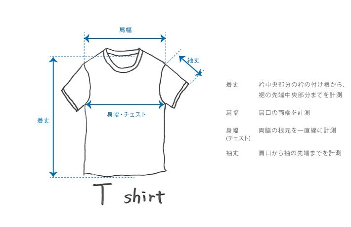 Tシャツのサイズガイド